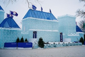 Ice castle during the carnival